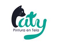 Corporate identity Paty Pintura en Tela