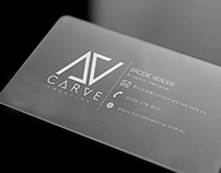 Carve Creative Business Card Concept