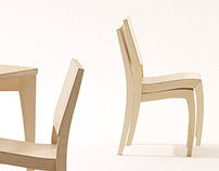 SIXKID: Grasshopper kid chair & table