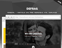Defrag - One Page Personal - Portfolio HTML