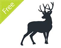 Deer vector silhouette