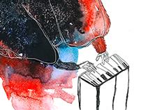 Piano playing maggot