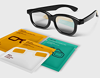 Minimalistic wet wipes for 3d glasses design