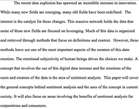Literature Review of Research in Sentiment Analysis