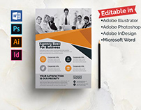 Multiple Software Editable- Corporate Flyer