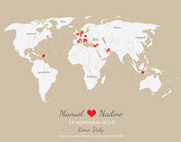 'our world' wedding gift