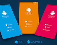 Freebie - Android L / iPhone 6 Plus App Mockup