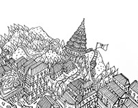 ::: ILLUSTRATION MAP OF PENANG ISLAND MALAYSIA  :::