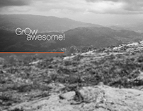 GROW AWESOME - Wallpaper
