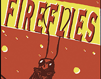 Fireflies Matchbox Illustration