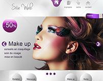 Maquette web : Esthétique / beauté