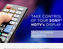 Sony HDTV Display Insert, Consumer Behavior Project
