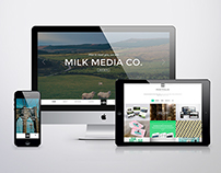 Milk Media Co. Website