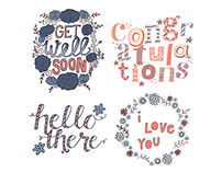 Hand Lettered Card Designs