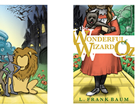 The Wonderful Wizard of OZ book jacket design