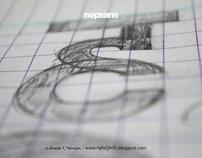Devanagari type design sketches #1