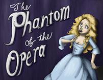 The Phantom of the Opera book jacket design