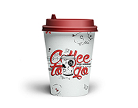 Paper hot cup for coffee - Illustration design