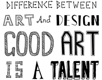 'Good Art, Good Design' Hand drawn type