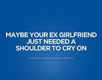 head & shoulders: ex-girlfriend, punctuation, asteriks