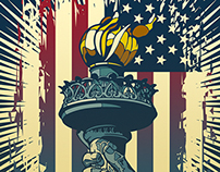 Flame of Liberty posters.