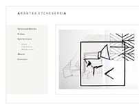 Website for visual artist