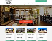 Home Showcase Event Website design