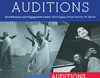 Living Arts - Auditions Flyer