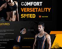 Sportswear Website Design