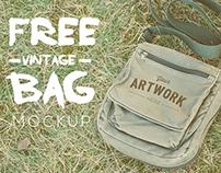 Free Vintage Bag Mockup