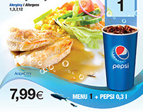 AquaCity Fastfood Pepsi Branding