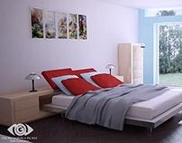 Bedroom - C4D & PS