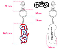 """Grease"" keyrings"