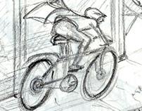 "Storyboard ""Speedy the Bike Messenger"""