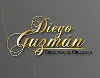 Tarjeta de presentación Diego Guzmán Dir de Orquesta