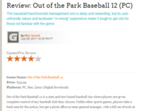 Out of the Park Baseball 12 (review)