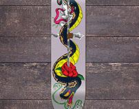 Snake & Skull Skateboard