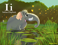 I is for Indian Elephant