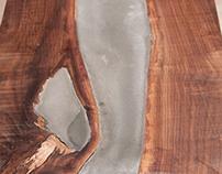 Walnut/Concrete Coffee Table