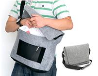Felt messenger bag design