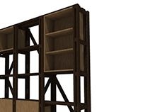 Mueble Madera - Libros 01