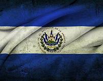 El Salvador Independence Day - Flag on Face Effect