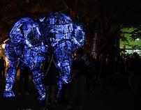 Giant Lantern Elephant Puppet, Zambia