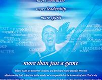 Oversized Magazine Ad for NCAA and Varsity Spirit
