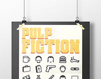 Pulp Fiction Alternative Movie Posters & Icon Set