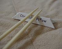 Chopstick Pillow / Chopstick Sleeve Design
