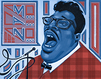 """""""Hey Bo Diddley"""" ©2014 Tanner Griepentrog"""