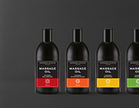 Seven Chakras massage oil packaging