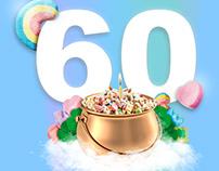 Lucky Charms 60 años.