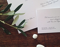 L+E wedding, typohraphy and print design